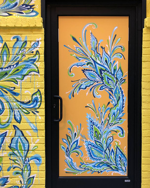 Honeygrow Test Kitchen Door Mural