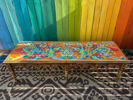 customed painted table for Pathways To Housing PA's 2021 Chair Affair
