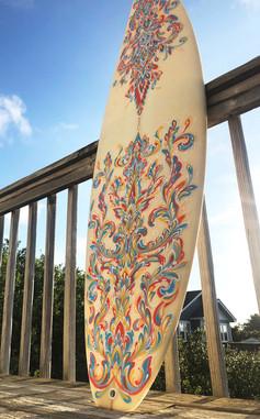 Custom Painted Surfboard