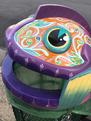 custom painted trashcan for the Fishtown Neighborhood Association project • 2017