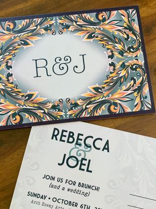 custom designed wedding postcards • October 2019
