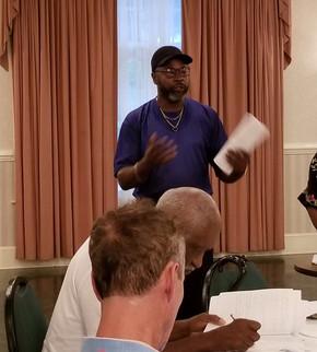 Myron Clack gives a legislative report.j