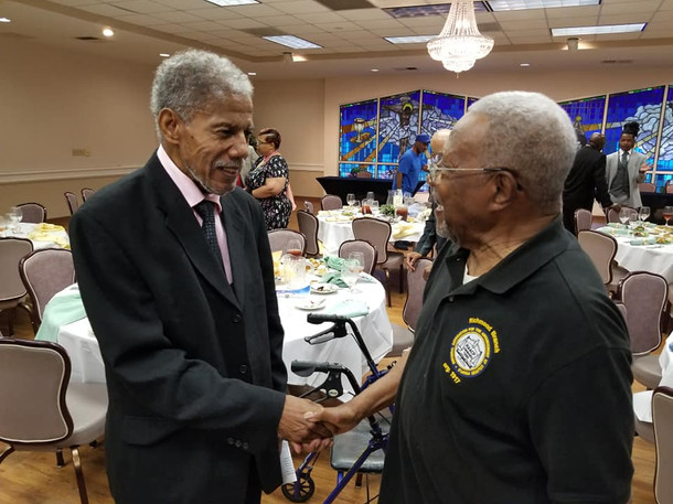 Senator Marsh greets our Senior Crusader