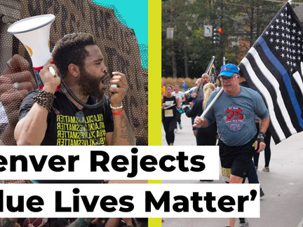 'Racists Go Home!' Denver Drowns Out 'Blue Lives Matter' Rally