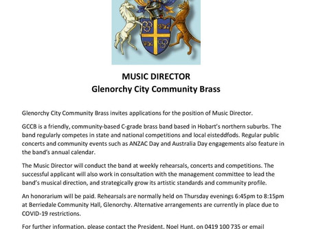 Community Brass seeks new Music Director