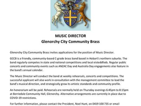 Community Brass seeks new Music Director