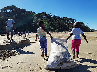 We had our first beach clean up today! _