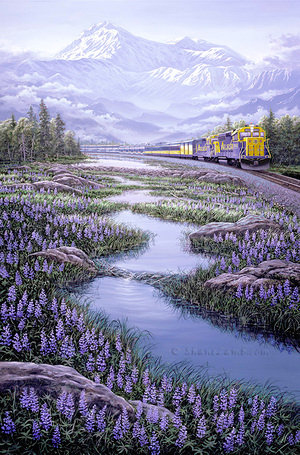 Great Land Passage - Hand Embellished Giclee