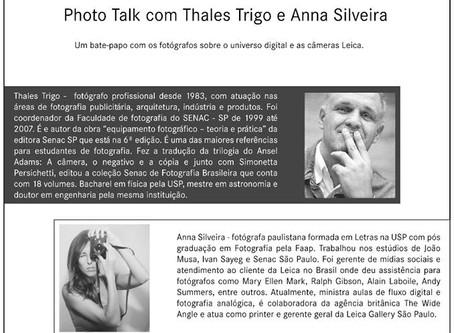 Leica Gallery São Paulo: Photo Talk com Anna Silveira e Thales Trigo