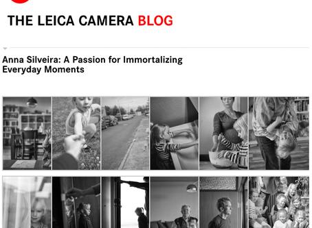 Eu no Blog da Leica!