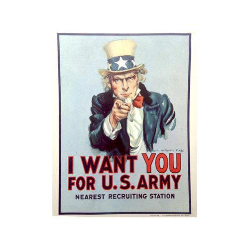 Poster Poster Recrutamento do Exército USA