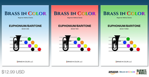AVAILABLE NOW:  Brass in Color for Euphonium/Baritone