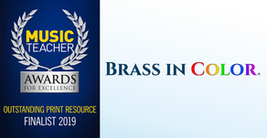 Brass in Color nominated as FINALIST for the Music Teacher Awards for Excellence