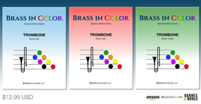 AVAILABLE NOW:  Brass in Color for Trombone