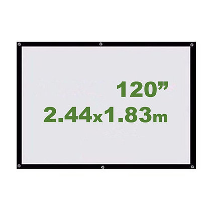 "Ecran Vinil 120"" 2.44x1.83m - Enrollable Sin Soporte"