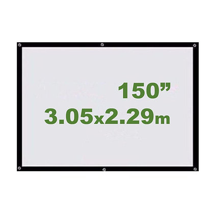 "Ecran Vinil 150"" 3.05x2.29m - Enrollable Sin Soporte"