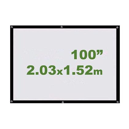 "Ecran Vinil 100"" 2.03x1.52m - Enrollable Sin Soporte"