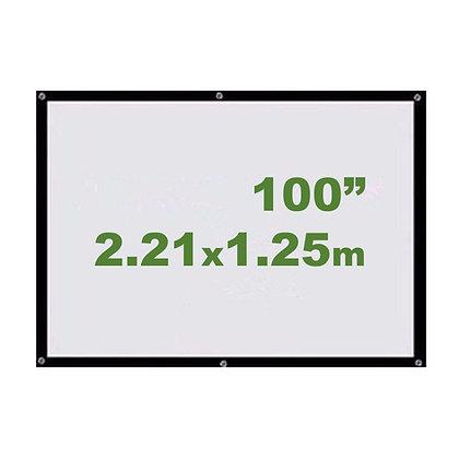 "Ecran Vinil 100"" 16:9 2.21x1.25m - Enrollable Sin Soporte"