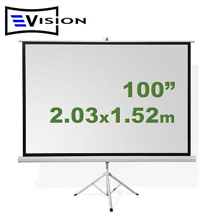 "Ecran Trípode 100"" 2.03x1.52m EVISION"
