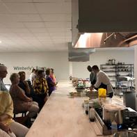 dinner in the demonstration kitchen