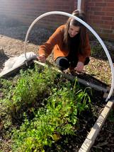 Deanna teaching garden