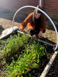 Deanna teaching garden