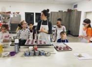 valentines class with Deanna beet cupcak