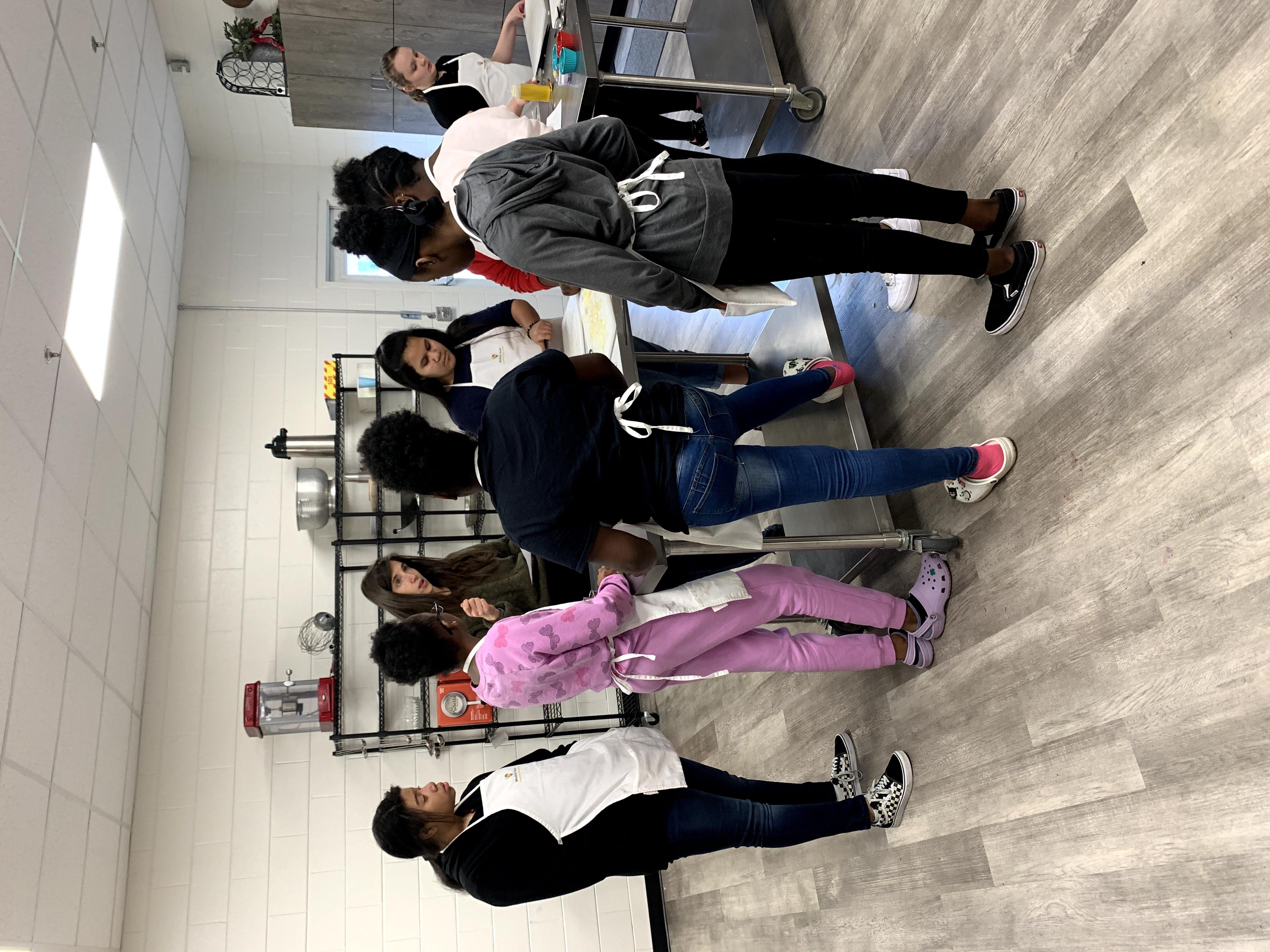 boys girl club demonstration kitchen