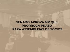Senado aprova MP que prorroga prazo para assembleias de sócios