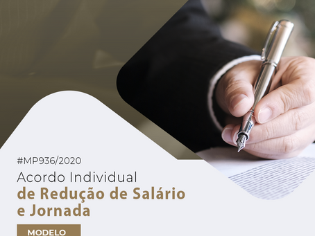 Minuta – Acordo Individual de Redução e Salário – MP nº 936/2020.