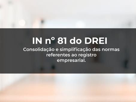 IN nº 81 do DREI – CONSOLIDAÇÃO DE REGISTRO PÚBLICO DE EMPRESAS