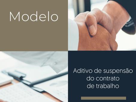 Minuta – Aditivo ao Contrato de Trabalho – Suspensão do CT – MP nº 936/2020