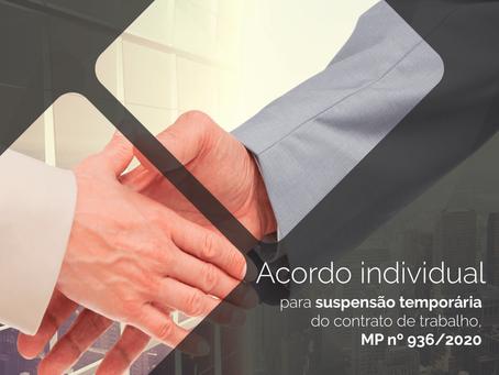 Acordo Individual de Suspensão temporária do Contrato de Trabalho – MP 936/2020