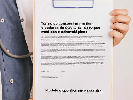 Modelo de Termo de consentimento livre e esclarecido – COVID19