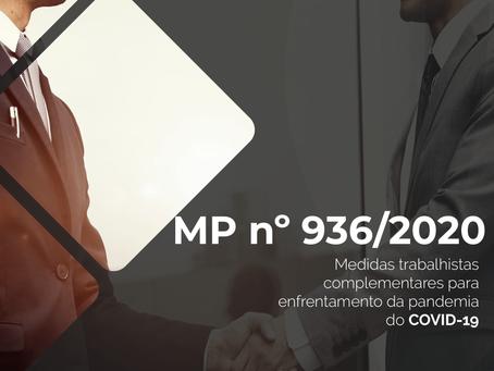 MP nº 936/2020: Medidas trabalhistas em face do COVID-19