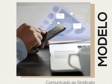 Modelo – Comunicado ao Sindicato Sobre a suspensão do CT – MP Nº 936/2020
