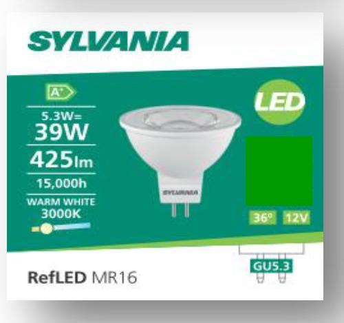 喜萬年 MR16 5.3w 425lm GU5.3 V4  射膽 SYLVANIA MR16 5.3w 425lm GU5.3 V4 LED Bulb