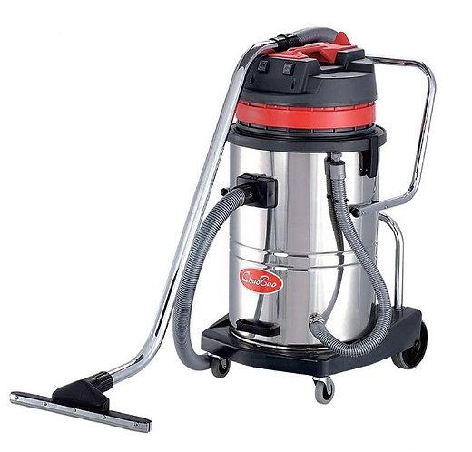 超寶牌 吸塵吸水機 60升不鏽鋼桶(千秋架) 商用ChaoBao Stainless Steel Wet And Dry Vacuum Cleaner(Tilt