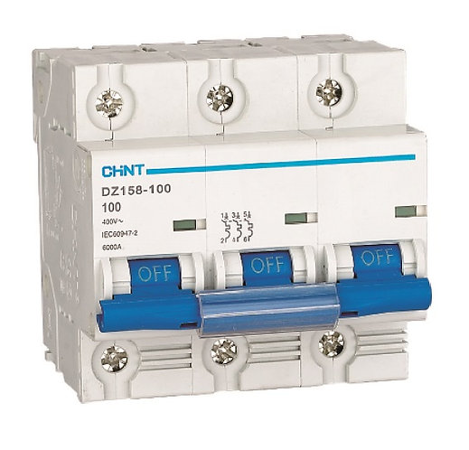 正泰  DZ158-125 63A以上微型斷路器 CHINT Moulded Case Circuit Breaker 6kA,10kA, 1~3Pole