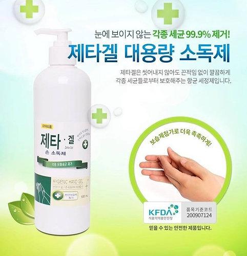 Zetta-Gel 韓國免沖洗消毒搓手液 500ml
