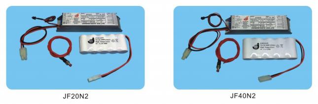 兩小時及三小時應急電池套件 - 長明式: 包括電子中樞(轉換/充電器)鎳鎘電池 2 and 3 Hours Duration-Maintained Type