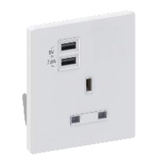 豐葉牌 13A插座連USB Fung Yip 13A Socket Outlets With USB