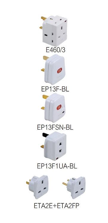施耐德插蘇頭及萬能插蘇(獨立掛裝) Schneider Plugs & Adaptors(Clam Pack)