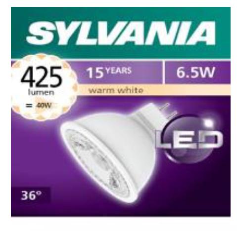 喜萬年SYLVANIA MR16 6.5w 425lm GU5.3  射膽 SYLVANIA MR16 6.5w 425lm GU5.3  LED Bulbs