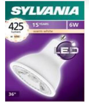 喜萬年SYLVANIA 6W GU10 LED 射燈膽 SYLVANIA 6W GU10 LED Bulbs