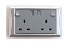 雙位入牆插頭連 USB 接口 Winon G2 Power