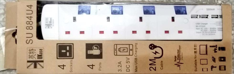 英特牌 排蘇 連USB插座 UKase 13A Extension Socket with USB Charger
