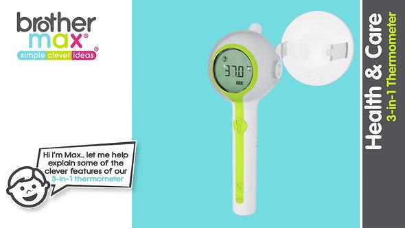 [英國直運] Brother Max 三合一額頭-耳朵成人嬰兒温度計 3 in 1 Thermometer