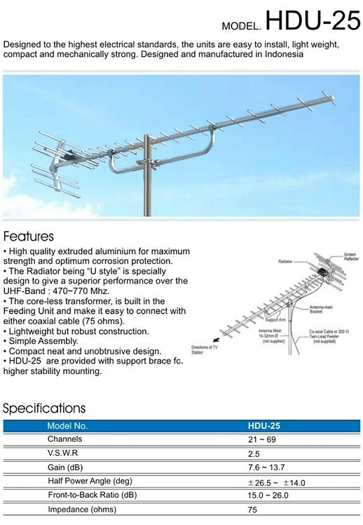 PF 天線架   HDU-25 outdoor Antenna