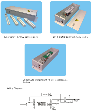 兩針式PLC系列慳電管鎳鎘緊急照明電池套件 2PIN Compact Fluorescent Lamp series,Emergency PLC Convers
